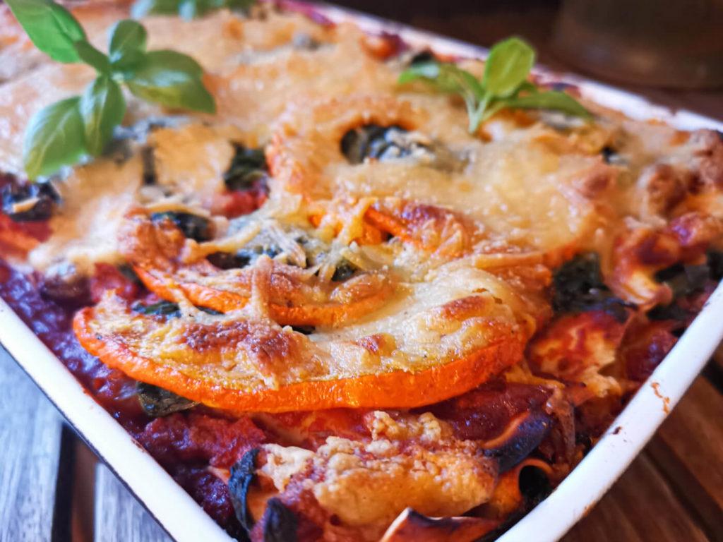 Spinat Kürbis Lasagne